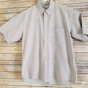 Geoffrey Beene Mens Shirt Large Casual Button Down